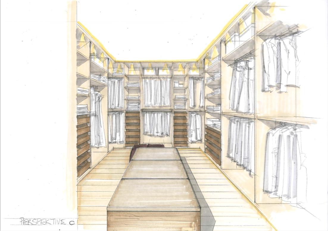 Walk in closet design Kroell Winkel
