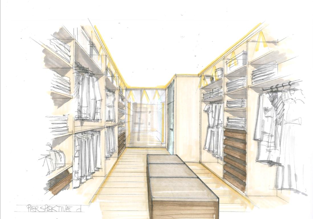 Design walkin closet Kroell Winkel
