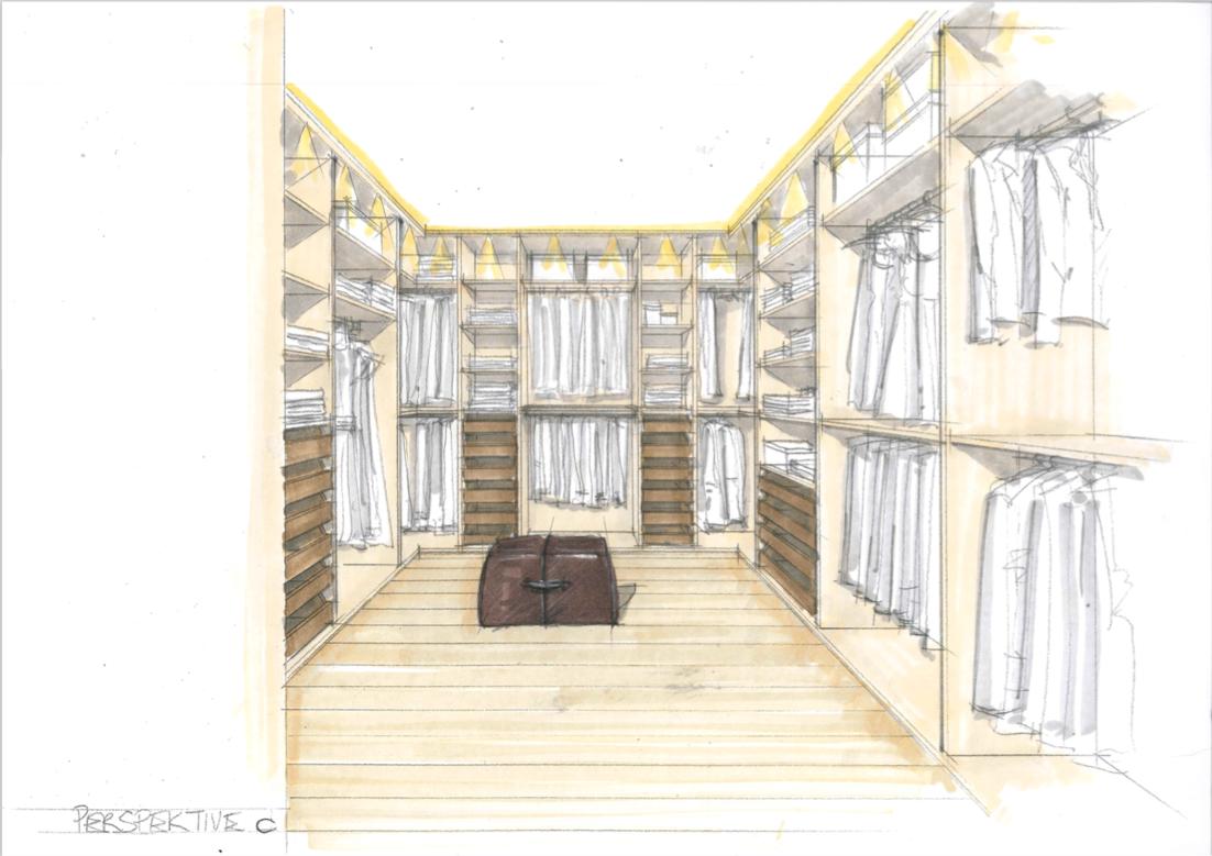 Kroell Winkel Design walk in closet
