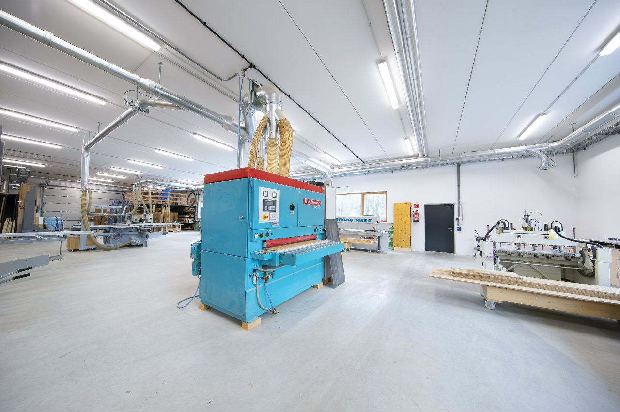 Werkstatt blauwe Machine Kroell Winkel