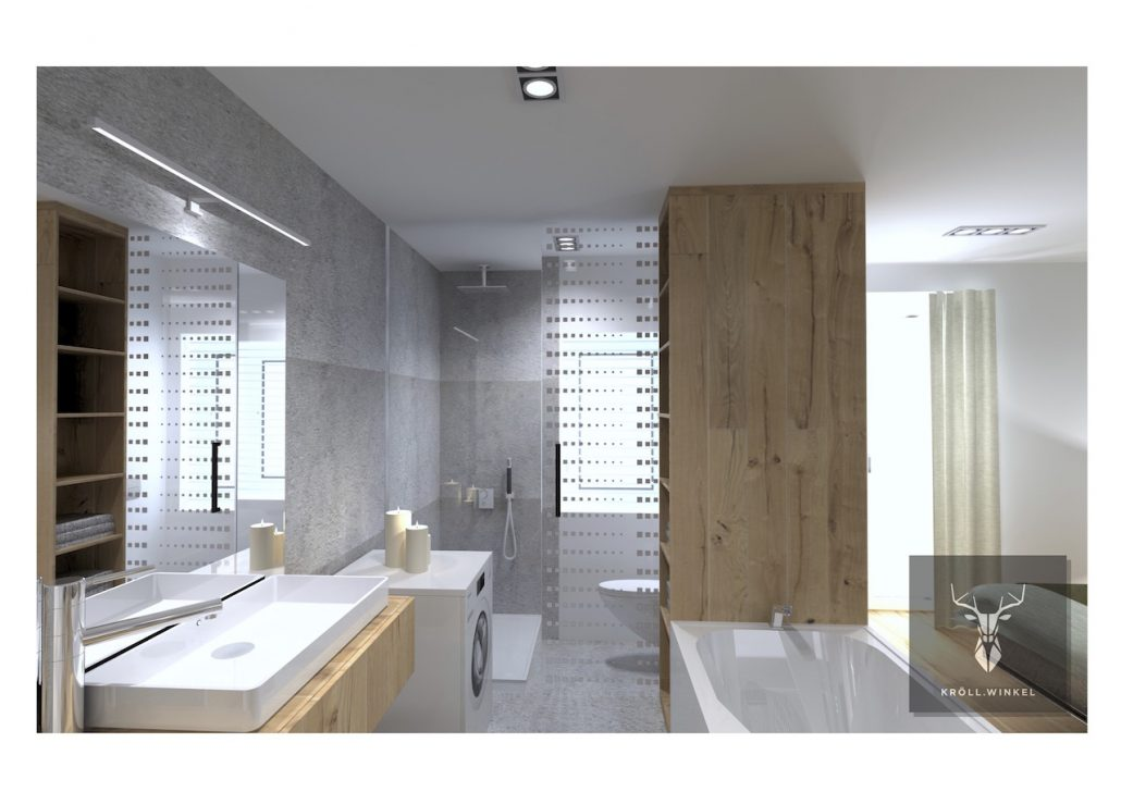 Disign minimalistic master bathroom