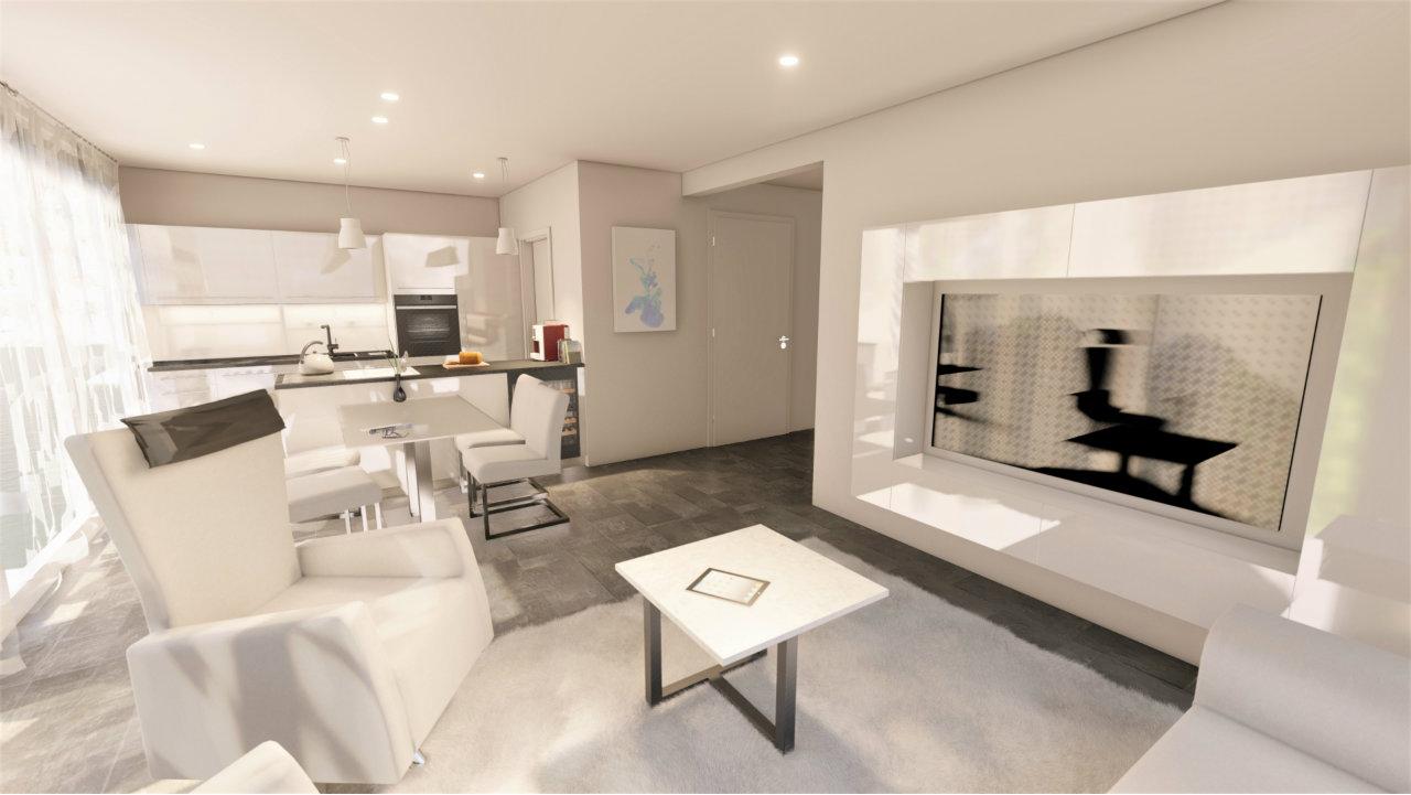Design Wohnzimmer weiss