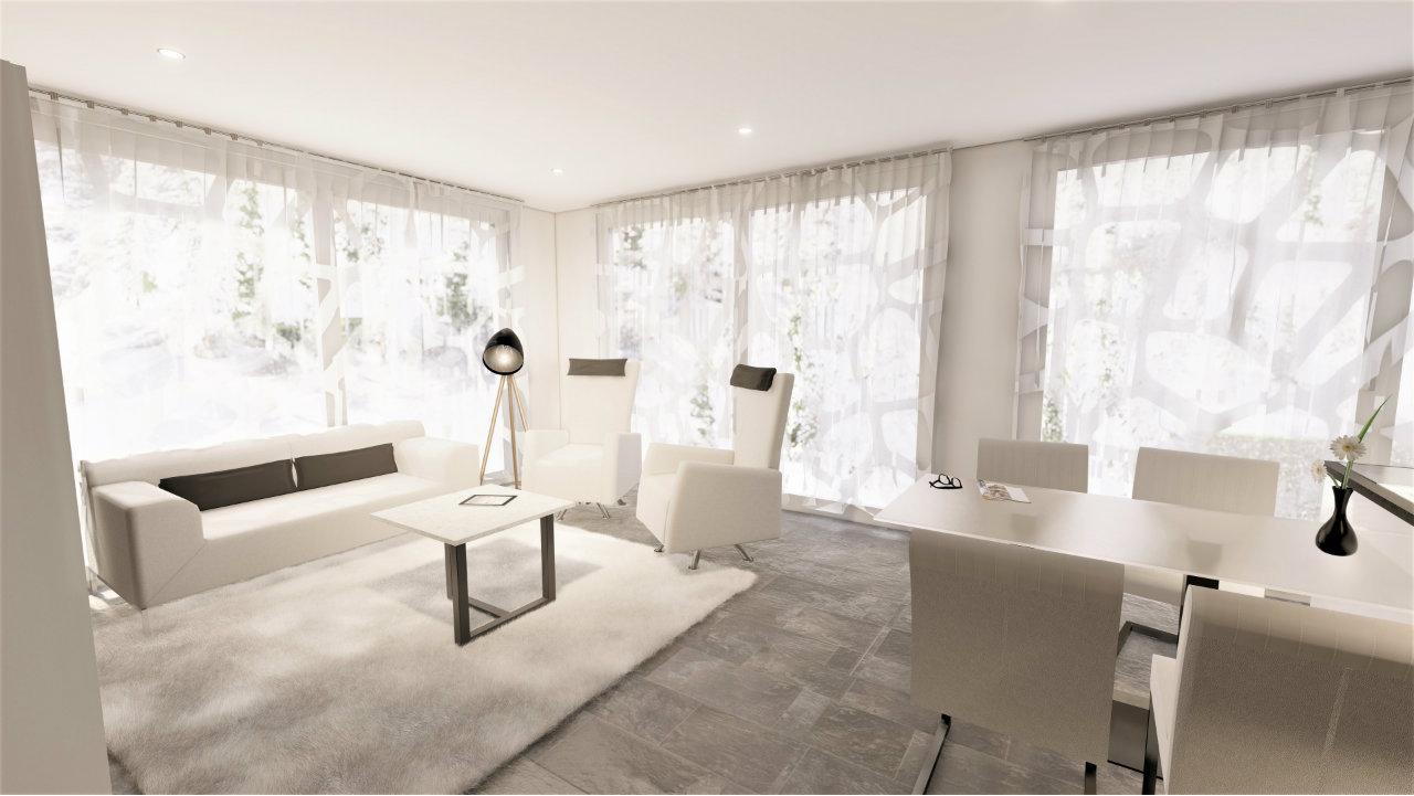 Design modernes weisses Wohnzimmer