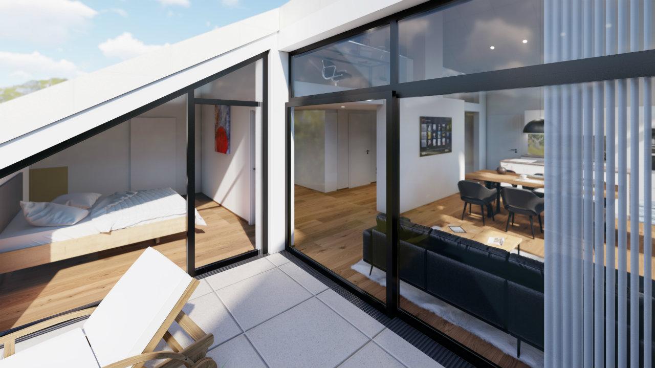Penthouse Terasse Design Kroell Winkel