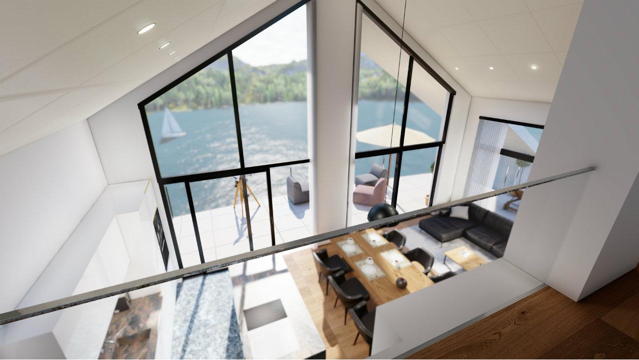 Ansicht von oben Kroell Winkel Penthouse