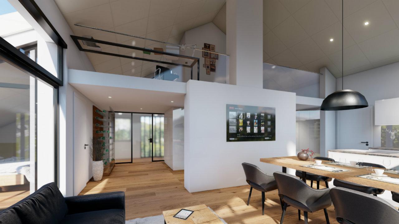 Design Esszimmer Penthouse luxurious