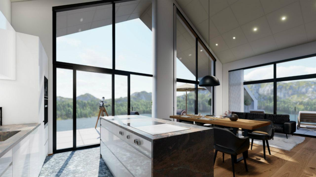 Penthouse Kueche Design Kroell Winkel