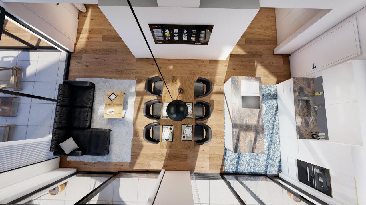 Grundriss Kroell Winkel Penthouse