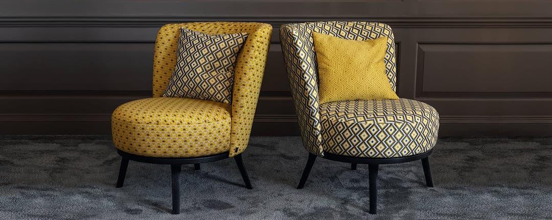 Jab Anstoetz Stuhle gelb mit schwarz