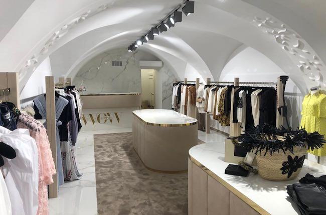 Luxus boutique Gold und weißes Marmor